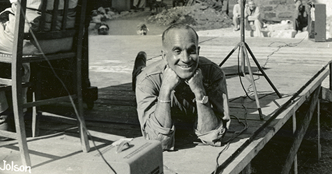 Image result for al jolson entertaining troops ww2